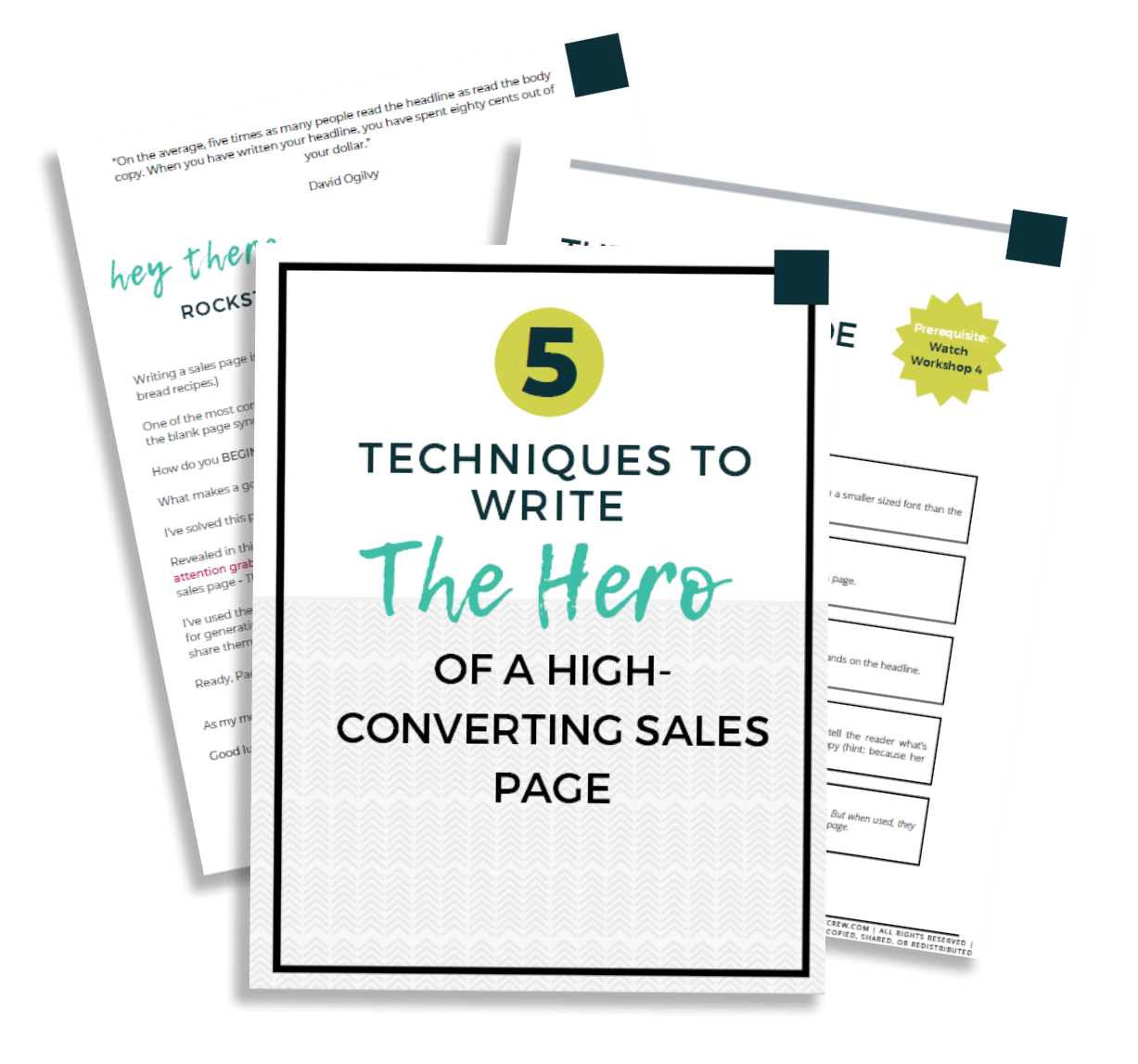 The Copy Crew - Want 5 Compelling Hooks & Headlines To Start Your Sales Page