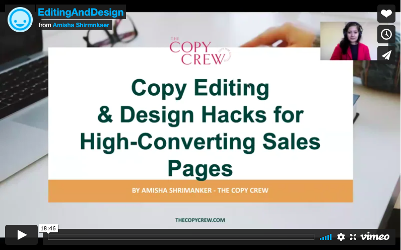Copy & Design Editing Hacks For High Converting Sales Pages