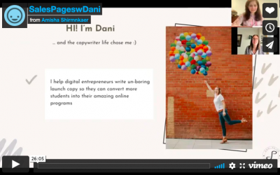 Sales Pages with Dani Page