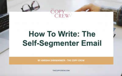 How to Write: The Self Segmenter Email