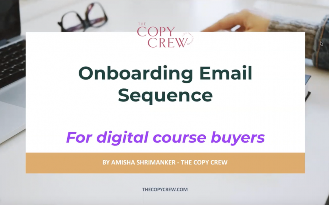 Onboarding Email Sequence for Digital Course Buyers